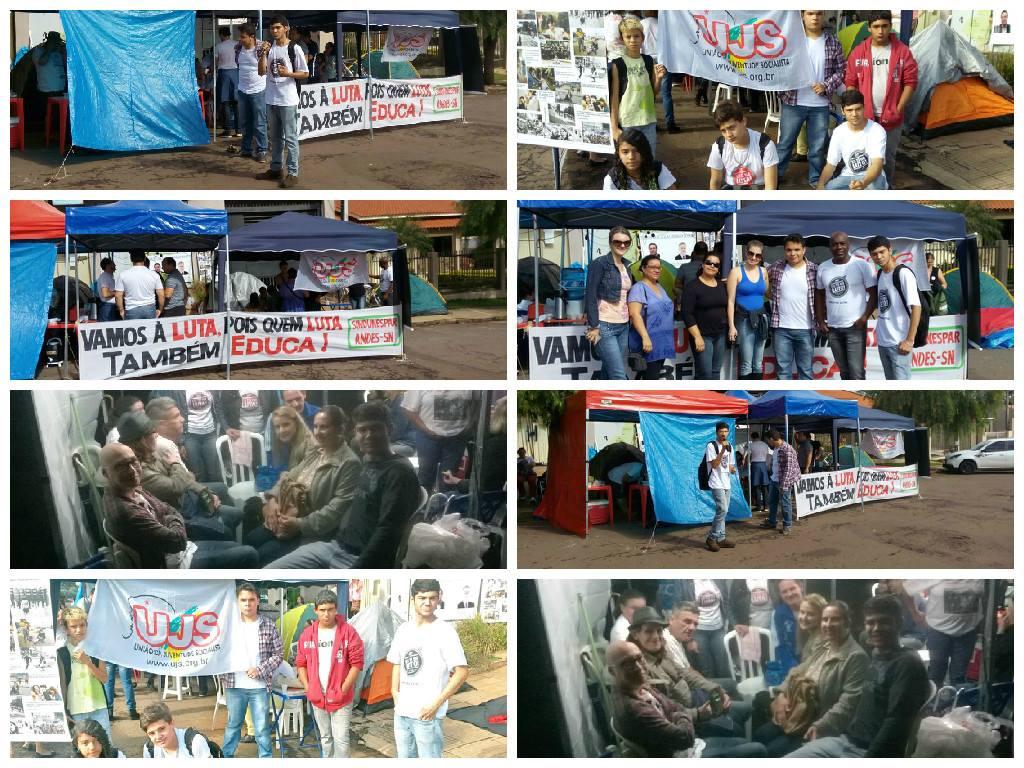 Estudantes participando das ações da greve.