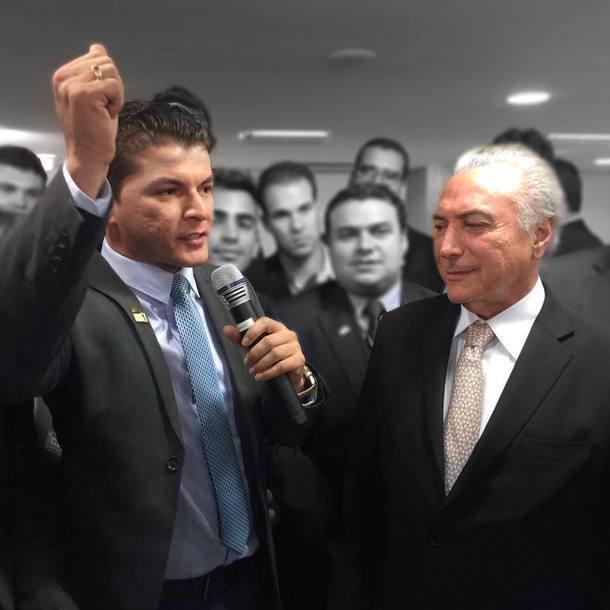 Novo Secretário de Juventude com o presidente Temer
